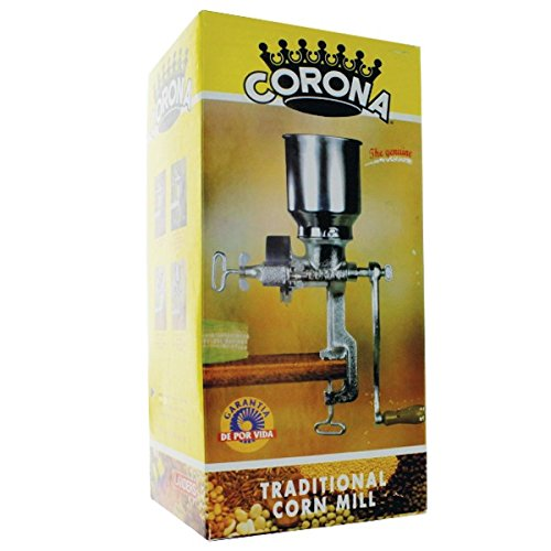 Corona® Corn & Grain Mill with High Hopper by www.CoronaMill.com