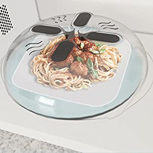 Custom Extra 1PC New Food Splatter Guard Microwave Hover Anti-Sputtering Cover Oven Oil Cap Heated Sealed Plastic Cover Dish Dishes Food Cover