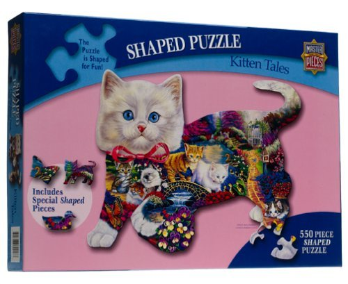 Kitten Tales Shaped Jigsaw Puzzle 550pc by American Puzzles (Masterpieces Puzzle 550pc)
