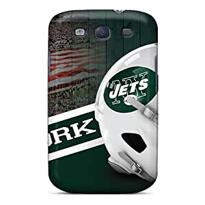 Scratch Resistant Hard Phone Covers For Samsung Galaxy S3 With Custom High Resolution New York Jets Pattern TimeaJoyce