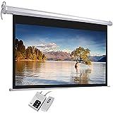 100 Diagonal16:9 HD Motorized Electric Auto Projector Screen w/ Remote Control Matte White 1.3 Gain