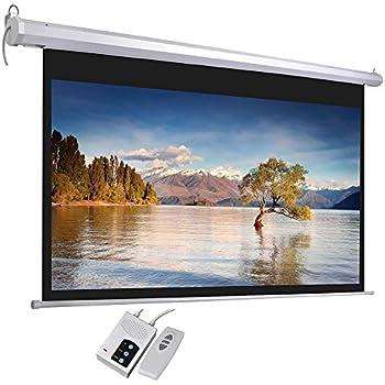 """100"""" Diagonal16:9 HD Motorized Electric Auto Projector Screen w/ Remote Control Matte White 1.3 Gain"""