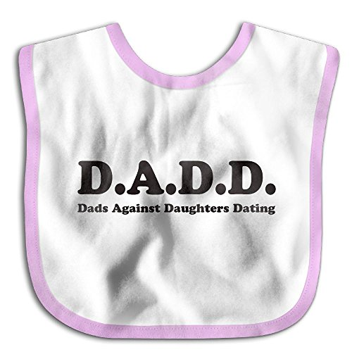 Dad And Baby Alien Costume (Comfortable Soft Infant D.A.D.D. Dads Against Daughters Dating Teething Bib - Bib Easily Wipes Clean! Pink)