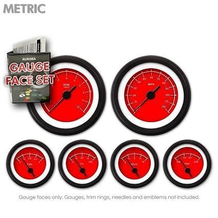 Aurora Instruments GARFM48 VX Red Gauge Face Set