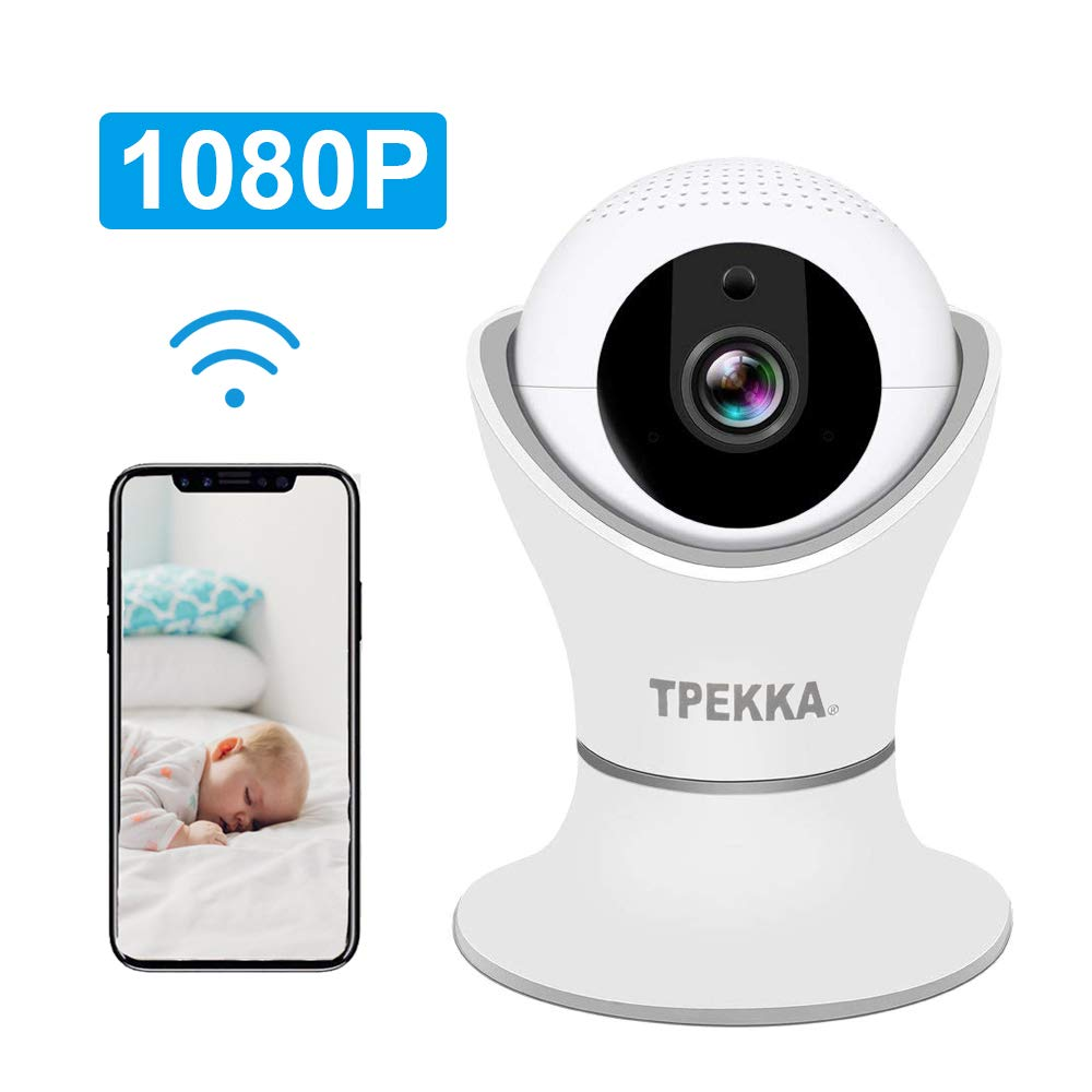TPEKKA Wireless IP Camera HD 1080P WIFI Dome Camera Nanny Cam 3D Navigation Panorama View with Pan/Tilt/Zoom Two-Way Audio Motion Detection Night Vision for Elder Pet Baby Monitor Home Office Security