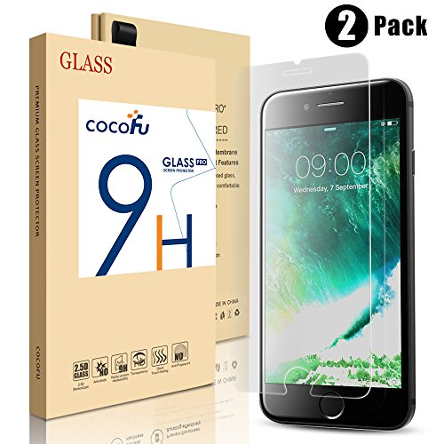 (2pcs)iPhone 8 Plus /7 Plus Screen Protector, COCOFU Tempered Glass Protector with [3D Touch Compatible] [Touch Accurate-Clear] [Bubble-Free][Scratch Resistant]for Apple iPhone 8 Plus /7 Plus-5.5 inch