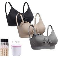 4b118c8928b Mejor Only 3Pack Seamless Nursing Bra Wireless Maternity Bra for  Breastfeeding Pregnancy Sleep
