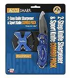 AccuSharp Sharpneasy 2-Step Sharpener & Sport Knife, Blue