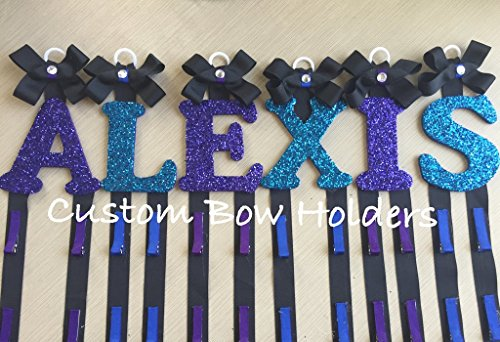 Hair Bow Holder - Cheer Bow Holder Sparkle Letter - Any Colors/Any 1 Letter