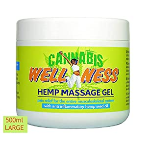 HEMP GEL for Pain Relief 500ml | Anti Inflammatory Soothing Muscle and Joint Rub Relieves Back, Knee, Neck Aches | Pre…