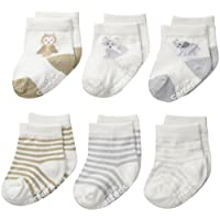 Carter's Unisex-Baby Newborn Soft Animal Socks, Multi, 12-24/Medium Months (P...