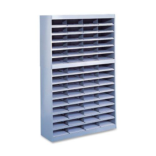 - Safco Products 9231GRR E-Z Stor Literature Organizer, 60 Letter Size Compartments, Gray