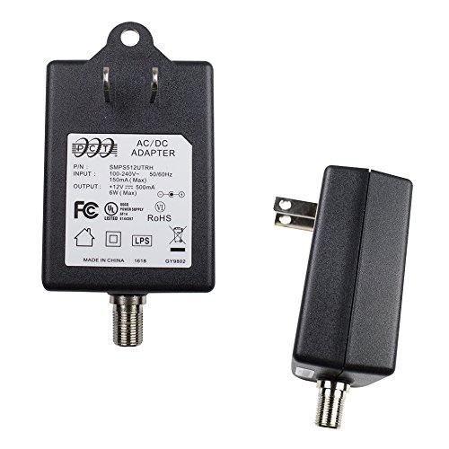 New Slim PCT Wall Mountable Power Adapter, Input 100-240 Output 12 V 500mA for CATV Subscriber Drop