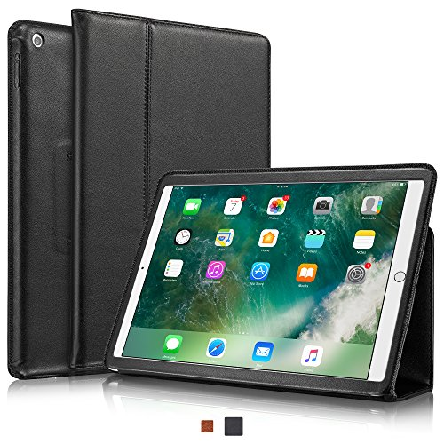 5th Black Leather (KAVAJ iPad Case 2017 Leather Cover