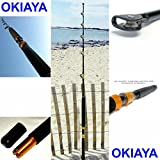 "OKIAYA COMPOSIT 160-200LB ""THE BIG NASTY"" SALTWATER BIG GAME ROLLER ROD Review"