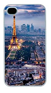 eiffel tower and paris Custom iPhone 4s/4 Case Cover Polycarbonate White by icecream design