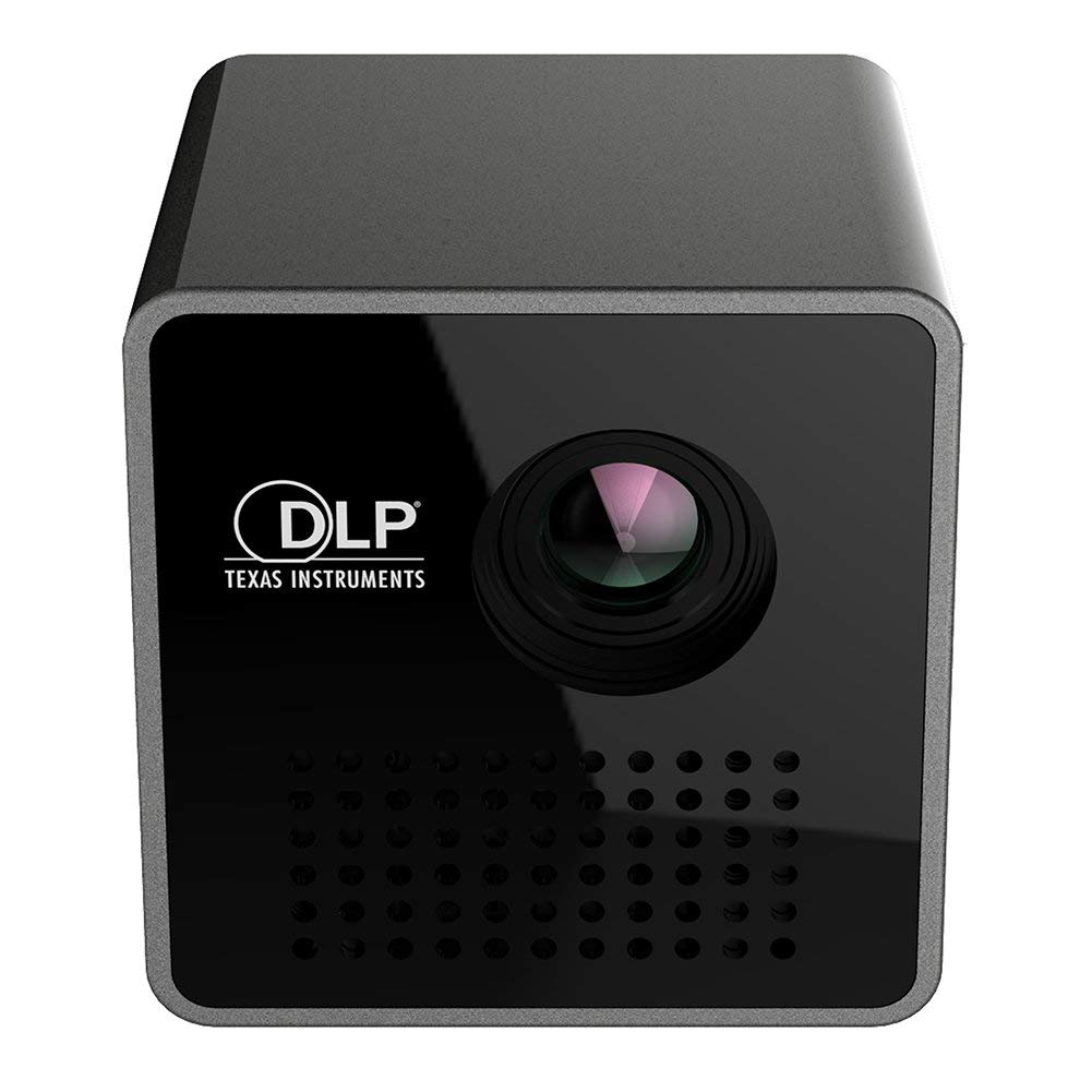 Private Home Cinema DLP プロジェクター スーパーミニのみ 1.8インチ キューブポケット LED ポータブル ピコプロジェクター 1080p HD DLP Beamer - ブラック B07Q8S1HZM