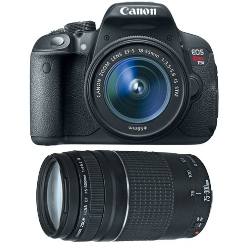 Cheap Canon EOS Rebel T5i Digital SLR Camera & EF-S 18-55mm IS STM Lens with Canon EF 75-300mm f/4-5.6 III Zoom Lens