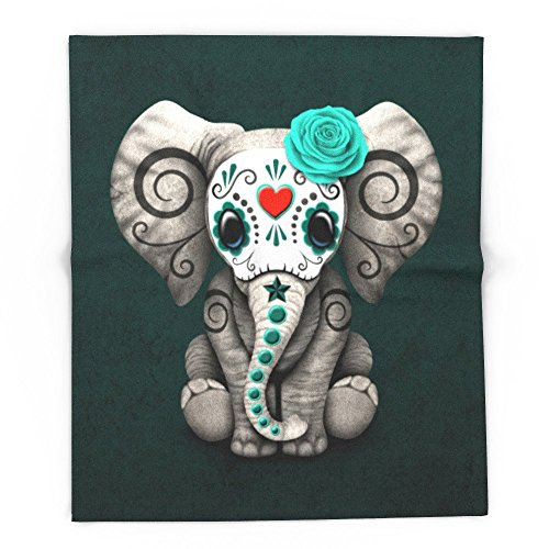 Society6 Teal Blue Day Of The Dead Sugar Skull Baby Elephant