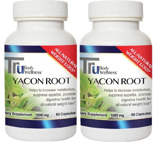Yacon racine 1000 mg. Par portion All Natural métabolisme jeu-changeur 120 Ct. C ...