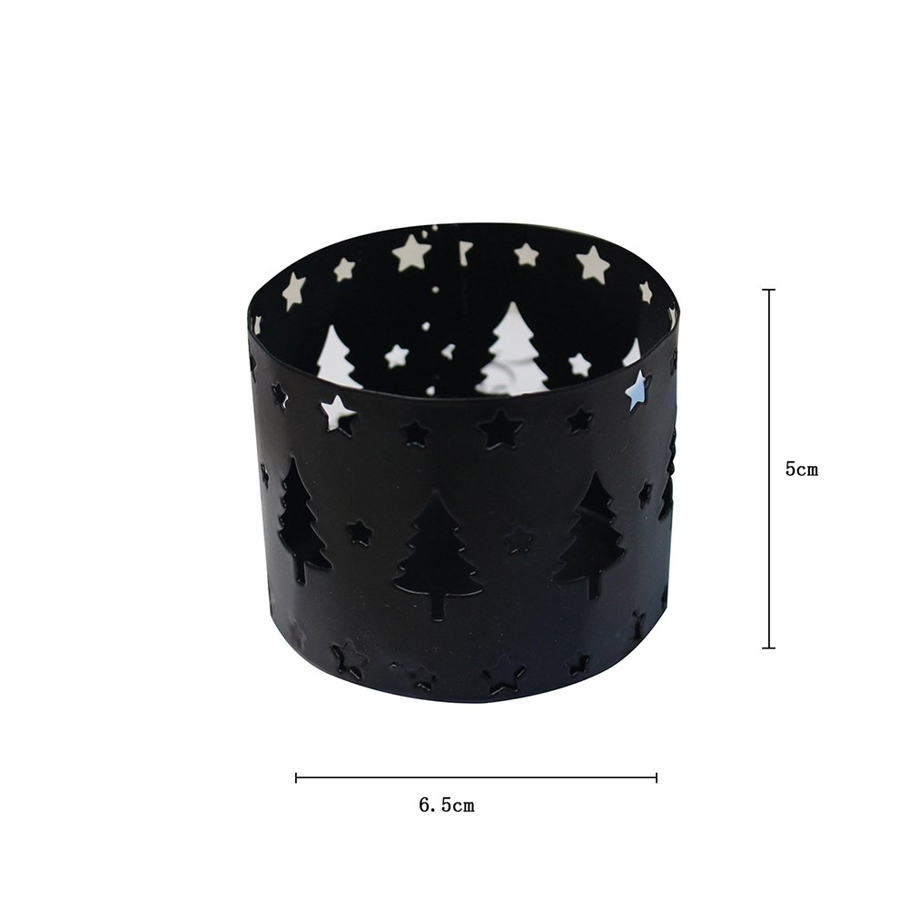 Alces de Navidad Blanco Hosaire 1X Portavelas de Navidad Decorativos De Velas Candelabros,Estilo navide/ño Hueco de Decoracion Boda Objetos Size 6.5 5CM