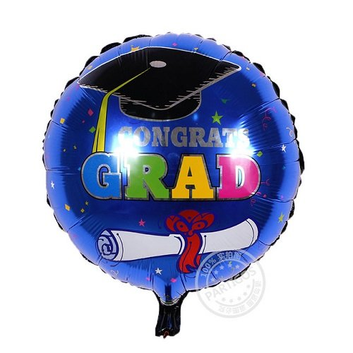 2018 Photo Booth Prop Graduation Decorations with Helium and Latex Decorative Balloons, Table Confetti for boy's or girls. High School or College Graduation