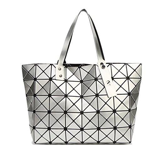 Silver Sacs Sacs Les Changer Modèles D'été Grands AJLBT à Laque Femmes Des Couture Diamants Main Sacs Géométriques Épaules wqTI6nUB7