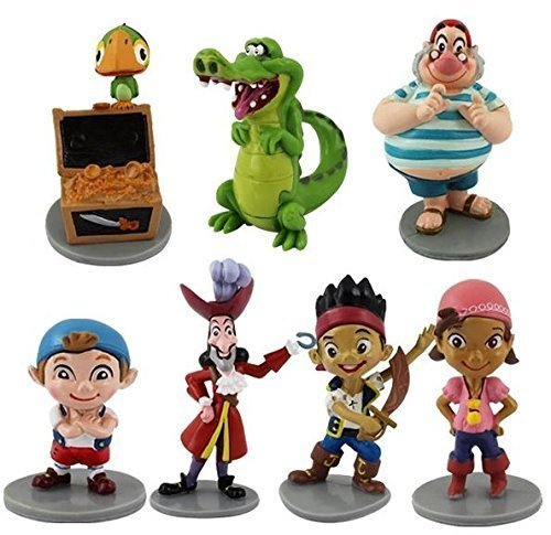 Anime Cartoon Jake and the Neverland Pirates PVC 7pcs Action Figure Toy Doll Kids Gift by handstiched