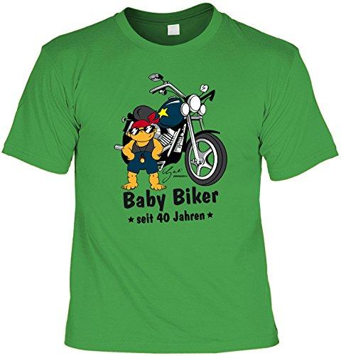 T-Shirt - Baby Biker Seit 40 Jahren - lustiges Sprüche Shirt als Geschenk zum 40. Geburtstag