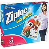 Ziploc Big Bag Double Zipper, X-Large, 4-Count (Pack of 2)