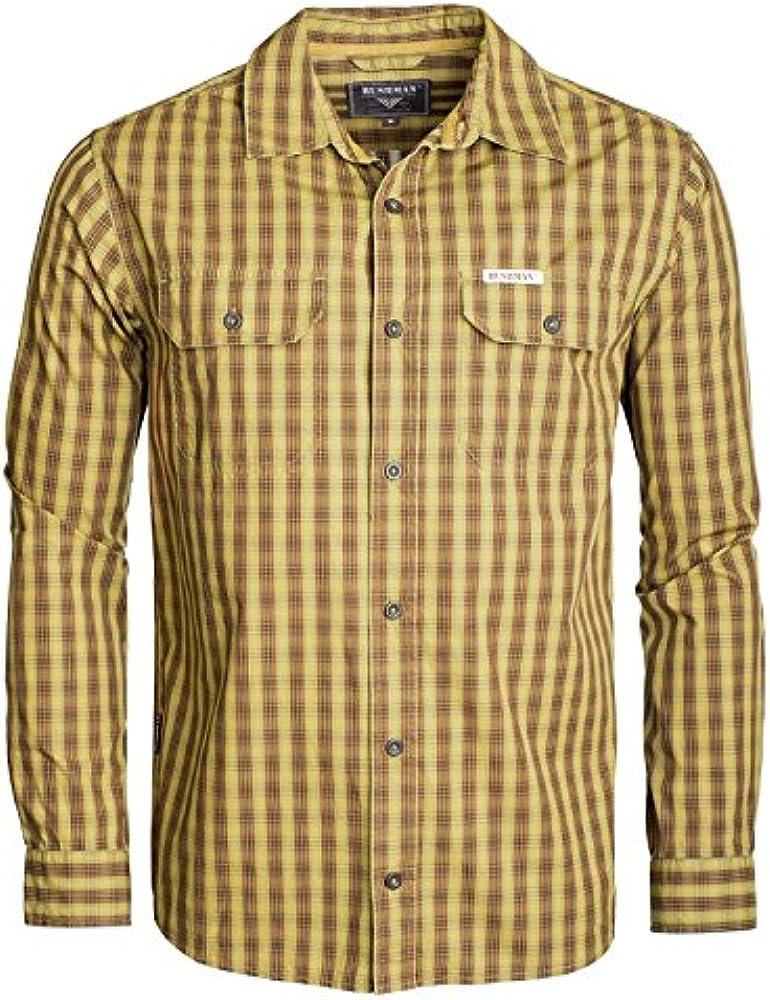 Front SwitchMan Hombre Camisa Hasan – Verano – Safari, Urban Ropa – 100% algodón – M de 3 x l – Sandy Brown, burgundy Sandy Brown XXXXL: Amazon.es: Ropa y accesorios