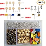 Clear&Silver&Gold&Map&Flag&Decorative Push Pins Set (Pack of 500 PCS) with a Practical Storage Box for Cork Board?Home, School and Office Organization, Fabric Marking, Bulletin Board(5 Types)
