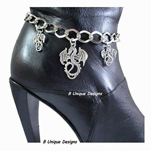 Winged Dragon Boot Bracelet Bling Chain Accessory Women's Sturdy Motorcycle Cosplay Chains Fantasy Personalized Jewelry