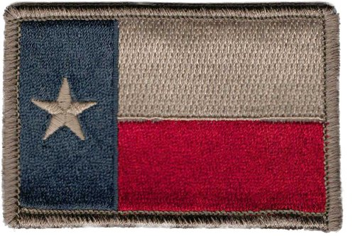 Amazon.com  Texas Tactical Patch - Subdued Silver  Clothing 2552f4a4438