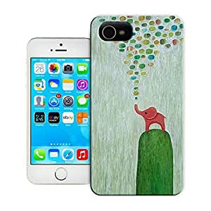 Unique Phone Case Baby Elephant Art Seafoam Green Home Decor Children's Art Wall Hard Cover for 5.5 inches iphone 6 plus cases-buythecase