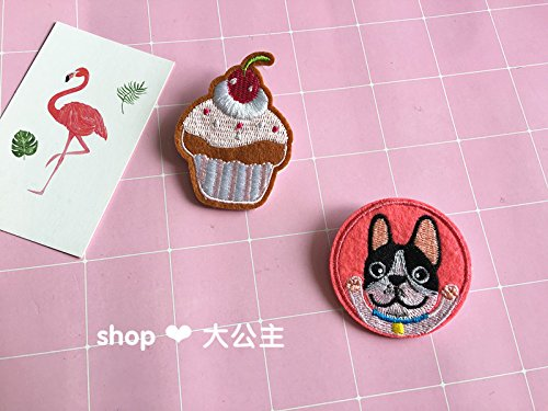 Custom embroidery Korean law bet pet dog safety pin brooch badge cake cloth patch stickers PDA Accessories