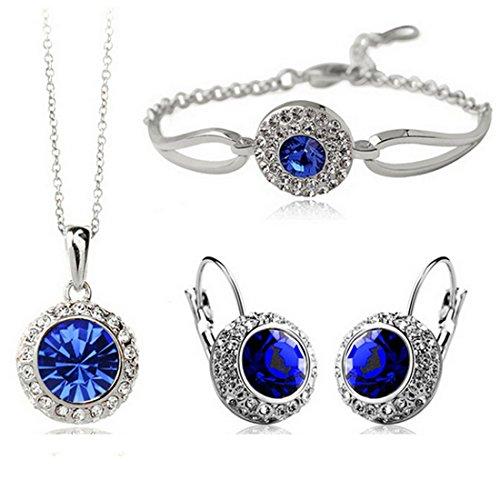 Royal Blue Necklace Set - 7