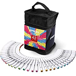 42-Pack Alcohol Markers with Storage Gif...