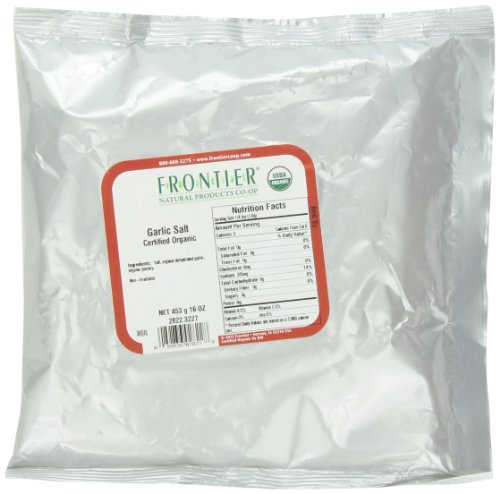 Frontier Garlic Salt Certified Organic, 16 Ounce Bag