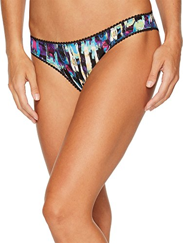OnGossamer Women's Mesh Printed Hip Bikini Panty, Movement Print, L