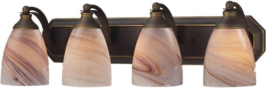 Super special price Elk Lighting 570-4B-CR-LED Vanity Ranking TOP14 Bronze Light Aged