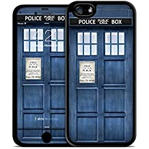 iPhone 6 Case, Police Box iphone 6 (4.7) Case & Skin Kit, Protective Hard Back Case w/ TPU Rubber Sides for the iPhone 6 (4.7 inch) (2014) with Matching Digital Wallpaper and Scratch Protection- Blue Police Call Box
