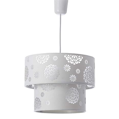 Lámpara de Techo Moderna Blanca de poliéster para salón Fantasy - LOLAhome