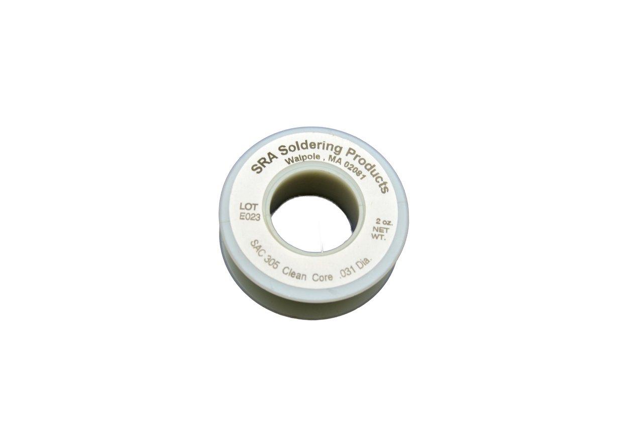 Lead Free No-Clean Flux Core Silver Solder, SAC305 .031-Inch, 2 Ounce Spool