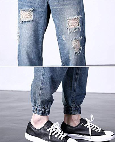 Chinos Vaqueros Blau Pantalones Loose Harem Fashion Vaqueros Vaqueros Pantalones Cargo Pantalones Leisure Skinny Vaqueros Pantalones Destruidos Vintage Joggers Rasgados Pantalones Lannister UtAwRqCq
