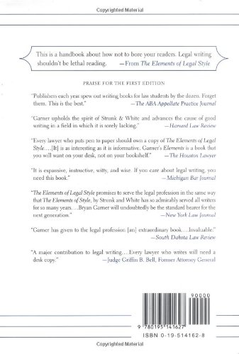 The Elements of Legal Style by Garner, Bryan A.