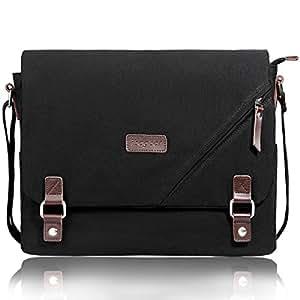 1c555af616 Amazon.com  ibagbar Upgraded Canvas Messenger Bags 14 Inch Shoulder ...