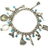 Cinderella Charm Bracelet Jewelry Merchandise Girls Women - Castle Bracelet Gifts Cosplay Costume Silver