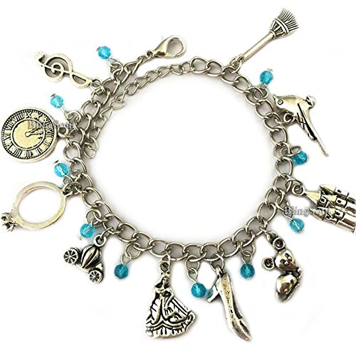 Cinderella Charm Bracelet Jewelry Merchandise Girls Women -
