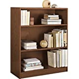 Essentialz Maine Small Extra Deep Bookcase - Walnut Effect with Microfibre HSB Cleaning Glove